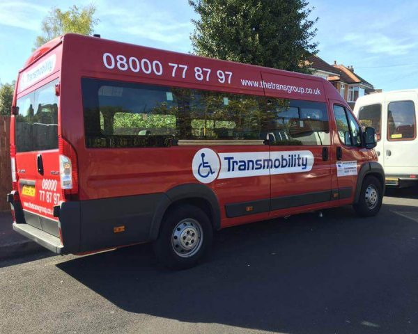 One of the buses we use to provide mini bus hire in Eastleigh